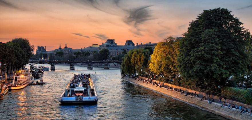 Paris from the water; the charm of cruises on the Seine