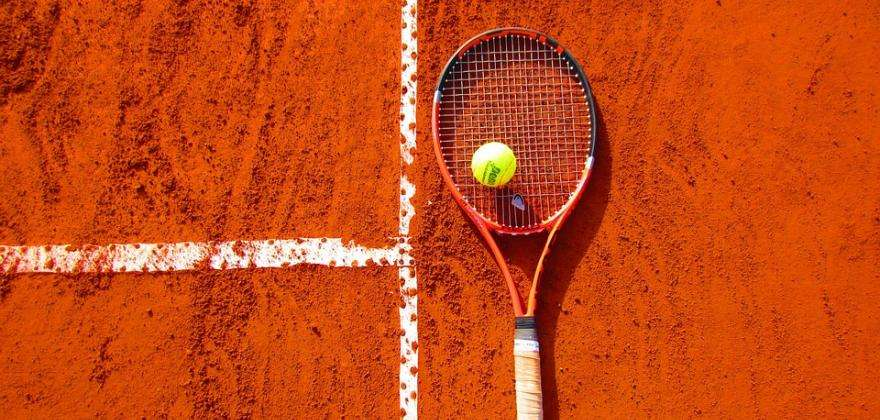 Sporting action at the French Open